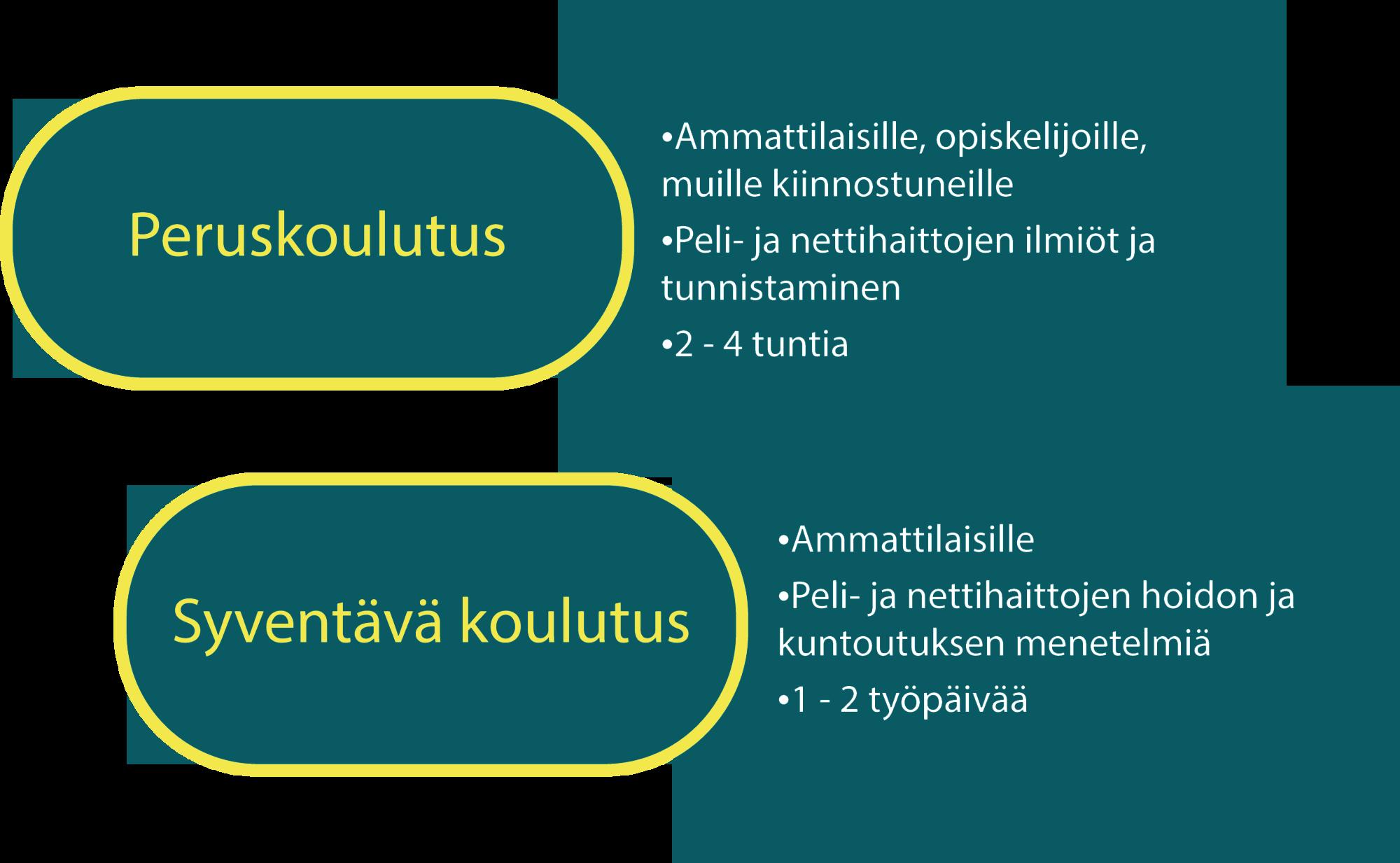 Infografiikka koulutuksista